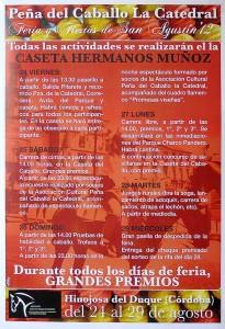 Programa de feria peña del caballo La Catedral 2012 Hinojosa del Duque