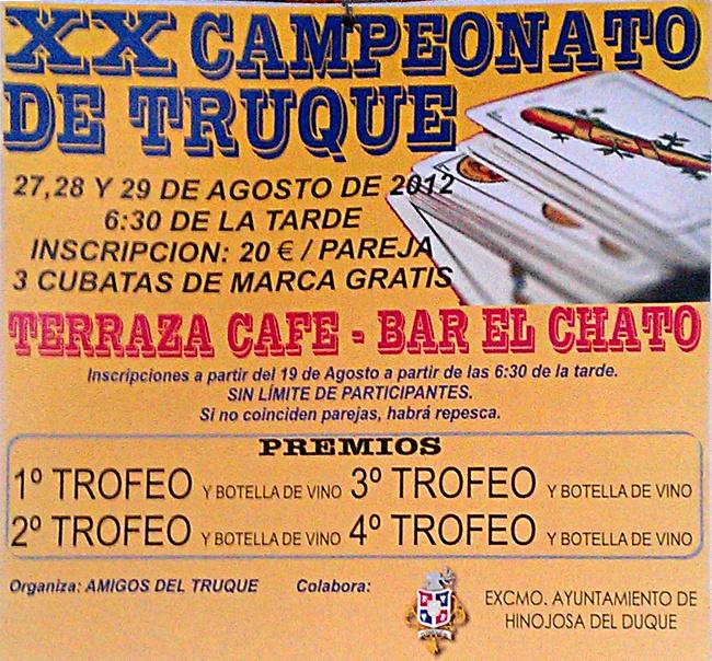 XX Campeonato de truque en Hinojosa del Duque