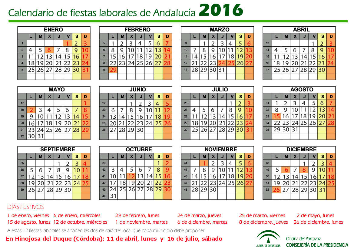 Calendario fiestas laborales de plona 2016 calendario for Calendario eventos madrid